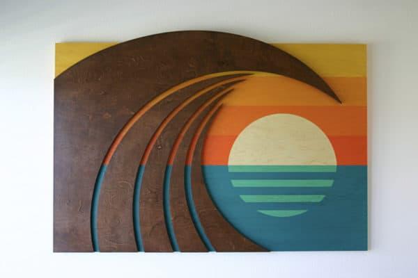 Popular Wood Wall Sculptures | HOKUA | Surf Artwork | Laguna Beach Art Gallery CY06