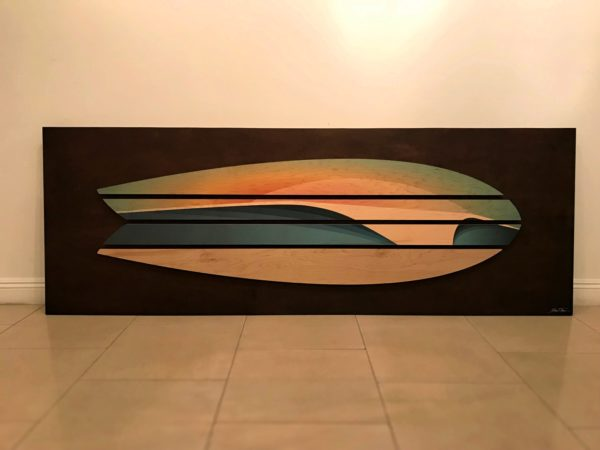 Surf Decor Surfboard Artwork Wood Wall Sculptures