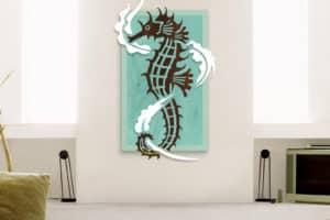 Seahorse Wood Sculpture by Shaun Thomas
