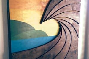 Wave Art by Shaun Thomas - wood wall hanging art sculpture