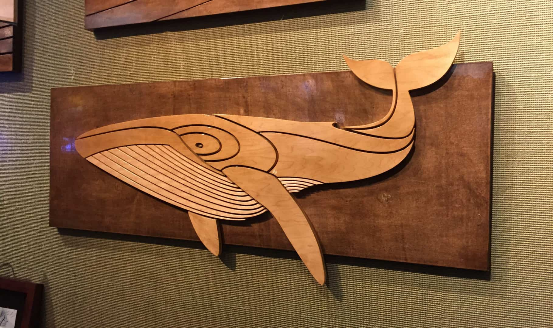 Wood Art Decor Fair Whale  Humpback Whale Art  Stained Wood Wall Sculpture  Shaun Review