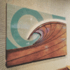 Surf Artwork - Surf Art, Surf Artist, Wood Waves, Surfboard Decor, Wood Wall Sculptures, Wood Beach Art, Wave Artist, Beach Decor, Surfshop
