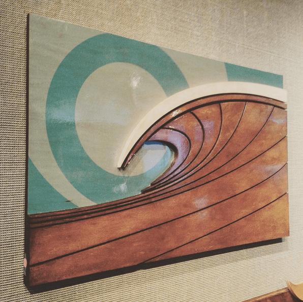 Preferred Surf Artwork | Shorebreak - Wood Wall Sculptures by Shaun Thomas QI55