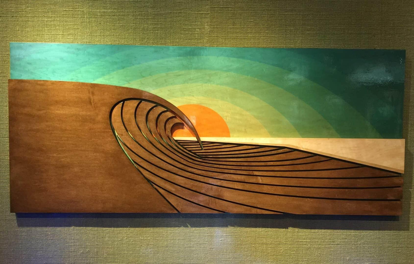 Wave Art - surf decor - decorating a coastal home - things to do at laguna beach