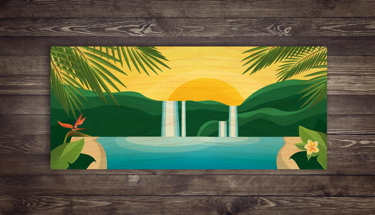 ESCAPE - Island Paradise - Wood Print | Shaun Thomas Art