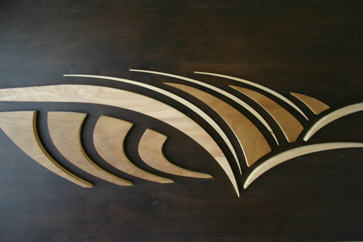 The curl curling abstract wave stained wood wall sculpture the curl amipublicfo Image collections