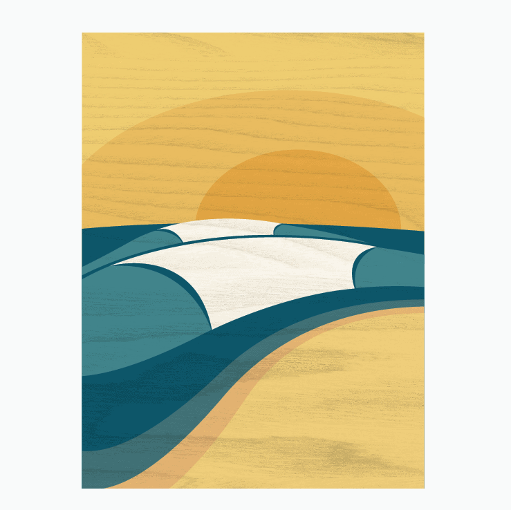 SURF DECOR - Pipeline | Surf Art Canvas by Wave Artist Shaun Thomas