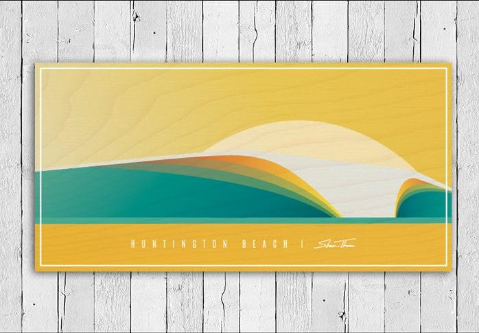 BEACH BREAK - Custom Beach City Break - Wood Print | Shaun Thomas Art