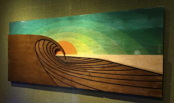 Surf Artist, Wood Waves, Surfboard Decor, Wood Wall Sculptures, Wood Beach Art, Wave Artist, Beach Decor, Surfshop